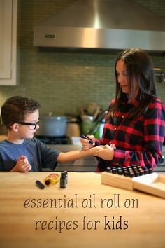 Essential Oil Roll On Blend Recipes for Kids - just in time for flu season