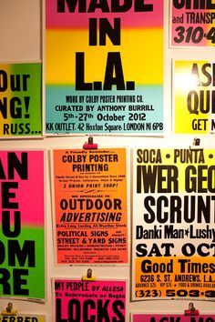 MADE IN L.A. exhibition at KK OUTLET, London curated by Anthony Burrill © Jessica Long