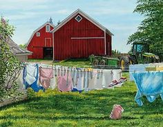 Shop for farm & country art! Select from over 240 different images painted by various artists featuring barns & farm houses, farm animals & fields and more! Country Art, Country Life, Country Roads, Country Living, Farm Paintings, Landscape Paintings, Landscapes, Toy Barn, Farm Art