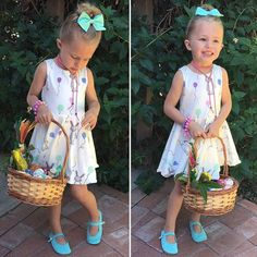 Happy Easter from Luxe & Ro ! Beautiful Miss. Mia's wearing our Mint Mary Janes + hard soles