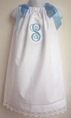 White lace hemstitch Pillowcase Dress with by adorablemeboutique, $32.00