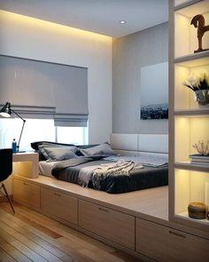 Tall Platform Bed Frame Full Elevated