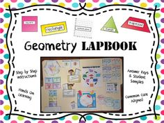 Geometry Lapbook - great alternative to worksheets - - perfect for interactive notebooks and centers - - common core aligned