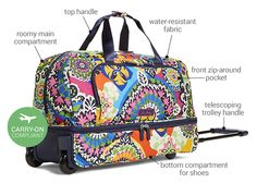 These styles are light as a feather and packed with functional features: Lighten Up Wheeled Carry On