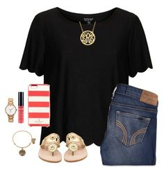"""""""Quick"""" by southernpearlxx ❤ liked on Polyvore featuring Topshop, Hollister Co., Jack Rogers, Kate Spade, Alex and Ani, NYX, women's clothing, women, female and woman"""