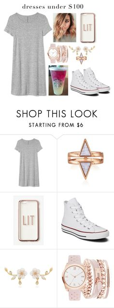 """""""Casual and under $100"""" by xxcoco-covetxx ❤ liked on Polyvore featuring Gap, Missguided, Converse, A.X.N.Y. and under100"""