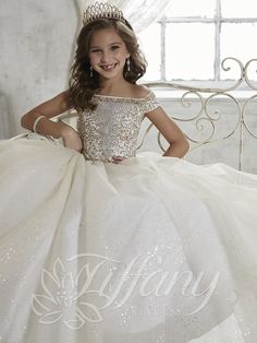 Blush Kids Inc. - Tiffany Princess Glitter Tulle Pageant Gown 13457 | Girls Pageant Dress, $297.99 (http://www.blushkids.com/tiffany-princess-glitter-tulle-pageant-gown-13457-girls-pageant-dress/)
