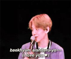 baekhyun confessing to a pouting chanyeol p2 (note: Aishiteru is a term specifically meaning an intense romantic love)