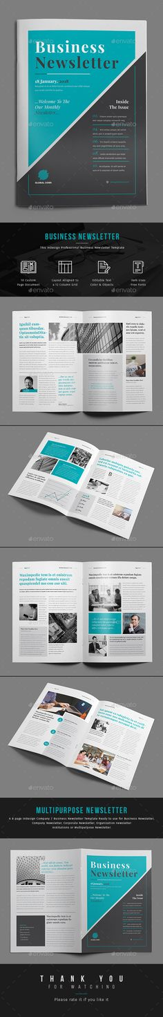 Clean Business Newsletter - 24 pages - Newsletters Print Templates - business newsletter