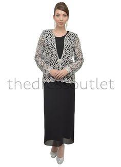 Short 2 Piece Dress Jacket Set Mother Church Suit Formal Plus Size ...