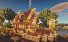Minecraft lake house - Minecraft World 2020 Minecraft World, Art Minecraft, Minecraft Building Guide, Minecraft Structures, Cute Minecraft Houses, Minecraft Plans, Minecraft House Designs, Minecraft Decorations, Amazing Minecraft