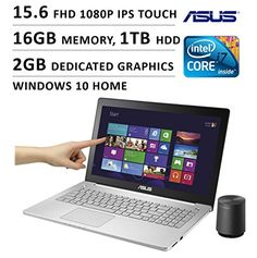Asus 15.6-inch FHD 1080P Touchscreen Gaming Laptop (Intel Quad Core i7 Processor, 16GB DDR3L RAM, 1TB HDD, 2GB GTX 950M Graphics, Windows 10) Pc Components, Unlocked Phones, Laptop Computers, Hdd, Windows 10, Computer Accessories, Digital Camera, Core, Gaming