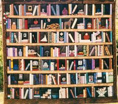 Library Wall Quilt by carol-quilts, via Flickr
