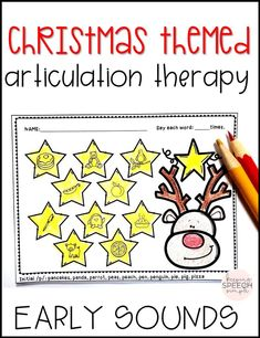 Keep students engaged during the busy holiday season with these No Prep Christmas themed worksheets for early sounds. They are great for the busy SLP!  Each worksheet contains 10 targets. All targets are picture supported for  non-readers. Sounds include: p, b, m, n, t, d, h, w, y.  This is a must have resource for your speech room. Click here to see more!