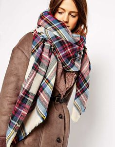 ASOS+Oversized+Square+Scarf+In+Check