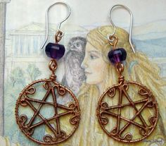 Pentacle Earrings Copper and Sterling ~ $39 ~ These are gorgeous!