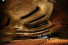 Modern architecture and interior design Guangzhou Opera House china. Zaha Hadid More Modern architec Zaha Hadid Architecture, Opera House Architecture, Modern Architecture Design, Futuristic Architecture, Modern House Design, Amazing Architecture, Interior Architecture, Chinese Architecture, Modern Houses
