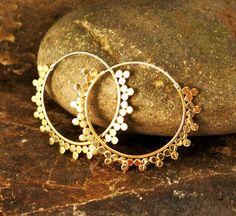 Sunray Brass Earrings by Nishiibo on Etsy