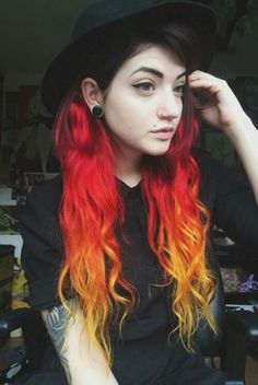 yellow and orange hair - Google Search