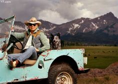 Photos: Jonas Fredwall Karlsson's Signature Portraits for Vanity Fair | Vanity Fair Ralph Lauren and Cinch, an Australian-shepherd/blue-heeler mix, in the designer's circa-1948 Willys jeep on the Double RL Ranch, near Telluride, Colorado, July 6, 2007.