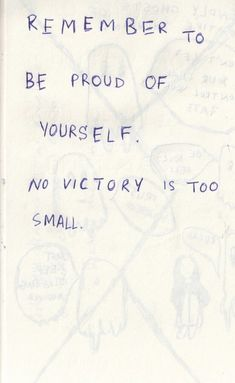 no victory is too small
