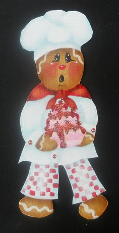 Gingerbread Lemonade Fridge Magnet Ornament by pumpkinpatch5