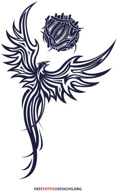75 Free phoenix tattoos + their meaning. Designs include Chinese, Japanese and tribal phoenixes. Phönix Tattoo, Body Art Tattoos, Small Tattoos, Tatoos, Phoenix Design, Phoenix Tattoo Design, Griffin Tattoo, Tribal Phoenix Tattoo, Stammestattoo Designs