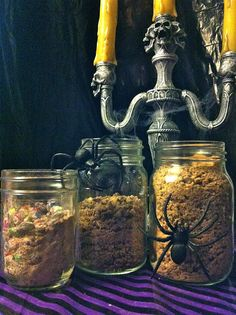Upcycle Your Halloween Treats by myfoodinfatuation #Halloween_Treats #Dessert_Toppings ... genius!
