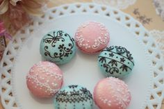 Beautifully decorated macarons