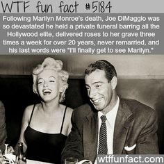 Joe DiMaggio and Marilyn Monroe - WTF fun facts