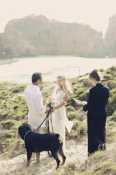 A wedding ceremony with your man and your dog. Can it get any better than this?!?