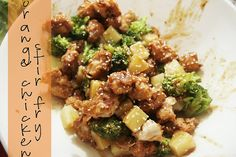 homemade ginger: Recipe: Orange Chicken Stir Fry