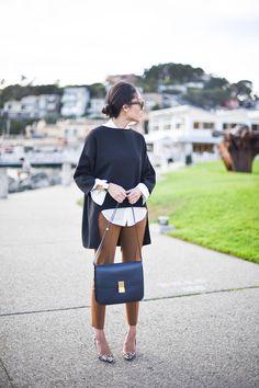 Carmel pants with black & white