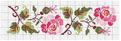 This Pin was discovered by Esr Easy Cross Stitch Patterns, Simple Cross Stitch, Cross Stitch Rose, Cross Stitch Borders, Cross Stitch Flowers, Cross Stitch Charts, Cross Stitch Designs, Cross Stitching, Cross Stitch Embroidery