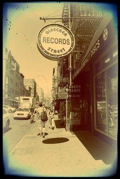 Bleecker street record store photograph greenwich by KitschyRitch