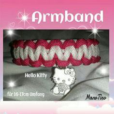 Paracord Armband Paracord, Friendship Bracelets, Hello Kitty, Fur, Jewelry, Armband, Handarbeit, Jewellery Making, Jewerly