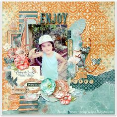 """blending of the BoBunny and Graphic45 papers. Scrap-Utopia: Enjoy the Little Things (Scraps of Elegance """"Timeless"""" Kit)"""