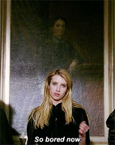 tumblr_mugusrgwI51qkjsuxo1_250.gif (245×310) American Horror Story Coven, Movie Titles, Series Movies, Emma Roberts Ahs, Madison Montgomery, Evan Peters, Vintage Movies, Reaction Pictures, Horror Stories