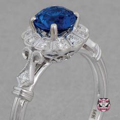 Deco Ceylon Sapphire Engagement omg!!! Love love love