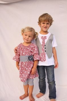 Sibling Christmas Brother sister Christmas outfits by haddygrace, $72.50