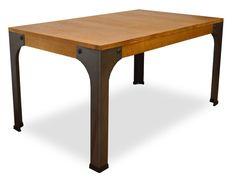 Mesa de centro madera y metal fabricada en España, Mesa de centro de madera maciza y patas metálicas #industrial #vintage #muebles #mesas #mesasbajas #tiendaonline
