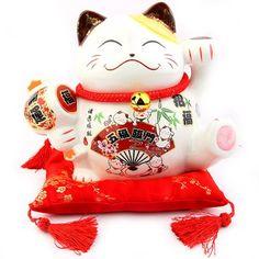 Chat Japonais Maneki Neko - Spécial Grande Taille - Porte Bonheur Traditionnel Japonais Lachineuse http://www.amazon.fr/dp/B00GD7FC2U/ref=cm_sw_r_pi_dp_3JVDub1JVFF59