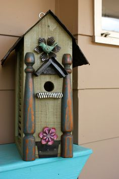 Handmade Birdhouse by RedHenBirdhouses on Etsy, $95.00