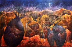 Painting: 'Rocky Bilboab' Mother Nature, Art Drawings, Crafts, Photography, Painting, Artists, Image, Manualidades, Photograph