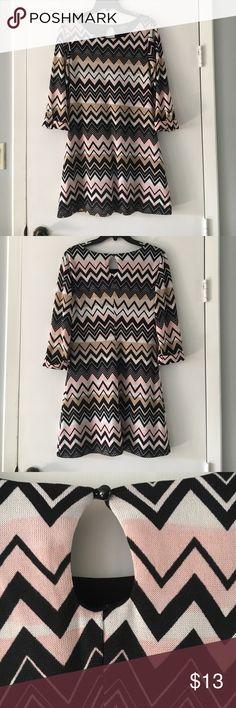 Lily Rose Patterned Dress Women's professional patterned dress. Great condition Lily Rose Dresses Midi