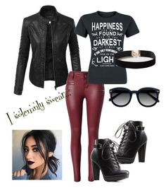 """Potter Punk"" by meliemoo on Polyvore featuring LE3NO, Charlotte Russe, Dorothy Perkins and Ace"