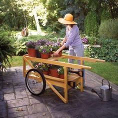 Build your own garden cart for hauling everything from bags of mulch to flats of flowers. Made from durable, straight-grain white ash, this heirloom cart will be a garden workhorse for years.