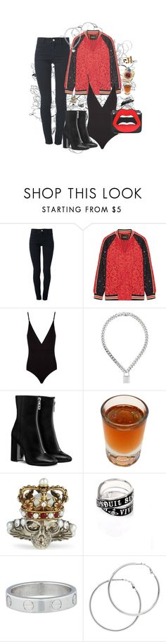 """She lick it up just like a candy"" by ronfire ❤ liked on Polyvore featuring STELLA McCARTNEY, Goen.J, Osklen, Dsquared2, Alexander McQueen, Vivienne Westwood, Cartier, Melissa Odabash and Yazbukey"