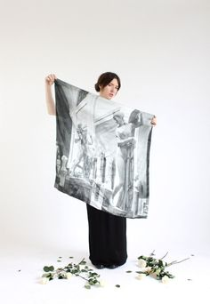 light as a feather: Venus silk scarf