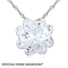 2016 Trendy Hot sale Pendant Clover necklace With Crystals from SWAROVSKI good for Valentine's Day gift #Affiliate